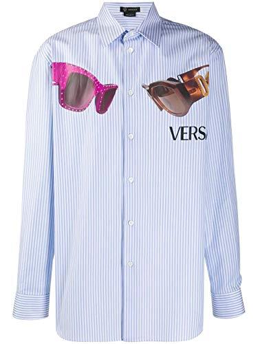 Versace Luxury Fashion Herren A84780A231878A520 Hellblau Hemd   Frühling Sommer 20