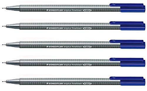 Staedtler Triplus Fineliner Pens blue color 5 Pcs./Pack