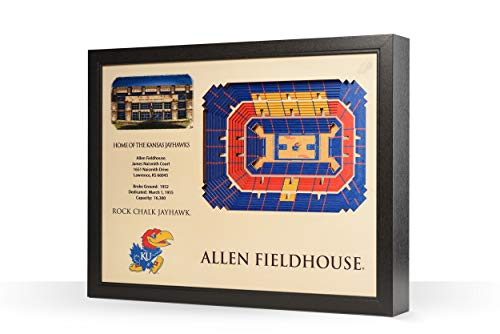 NCAA Kansas Jayhawks 25-Layer Stadiumviews 3D Wall Art