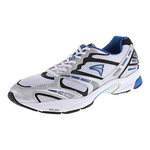 JAKO Herrenschuhe Laufschuh J1 Running White Silver Royal 571000 (11.5 UK)