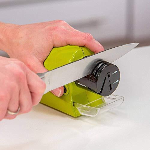 Dxent Multi-Functional Motorized Knife and Scissor Blade Sharpener, Home Kitchen Knives Sharpening Tool,Portable Knife Grinder, Assorted Colour
