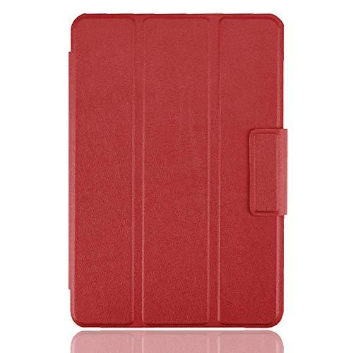 Funda de Cuero ultradelgada para Xiaomi Mi Pad 2 Mi Pad 3 (7.9 in) Funda con Tapa y Soporte de Libro Funda en Folio para Mi Pad 2 Mi Pad 3 Tablet-Rojo