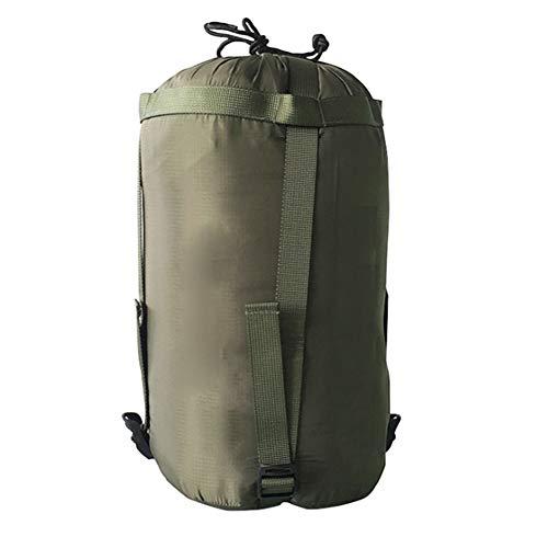 Kompressionssack, Wasserdicht Space Saver Kompressionspacksack Compression Stuff Sack für Schlafsack, Kleidung, Reisen, Camping (Armee grün,10L)