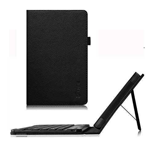 Fintie WinBook TW700 Tablet Keyboard Case - Premium PU Leather Folio Stand Cover with Removable Wireless Bluetooth Keyboard for WinBook TW700 7-Inch Windows 8.1 Tablet, Black