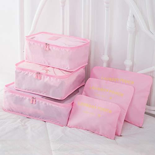 YOUYUANF Korean Version of The Travel Storage Bag 10 Piece Set Luggage Luggage Finishing Bag Travel Storage Bag Six Piece Set