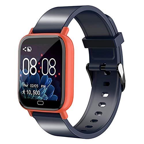 DOOK Smartwatch Reloj Inteligente - Smart Watch Hombre Mujer Impermeable IP67 con Monitor De Sueño Pulsómetros Cronómetros Contador De Caloría, Pulsera De Actividad para iOS Y AndroidOrange