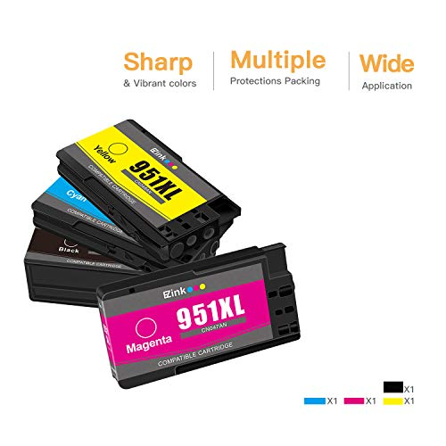 E-Z Ink (TM) Compatible Ink Cartridge Replacement for HP 950XL 951XL 950 XL 951 XL to use with OfficeJet Pro 8610 8600 8615 8620 8625 8100 276dw 251dw(1 Black, 1 Cyan, 1 Magenta, 1 Yellow, 4 Pack Photo #2