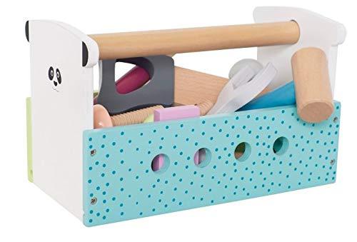 "_JaBaDaBaDo_ ""Werkzeugkiste Colour Line Spielkiste Werkzeug Spielbox Werkzeugkasten Werkzeugkoffer Holzwerkzeug Holz Kinderspiel Spielzeug Kinder Mädchen bunt thumbnail"