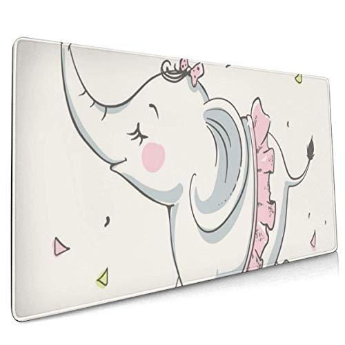Niedliche Elefant Ballerina tanzen große Mauspad Tastaturpad Langes erweitertes Mehrzweck-Computerspiel Mausmatte