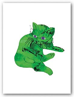 Cat (Green) by Andy Warhol 31.5