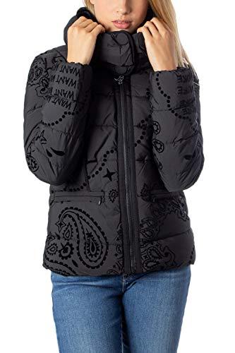 Desigual Damen Coat Sunna Daunenmantel, Negro, 38 EU