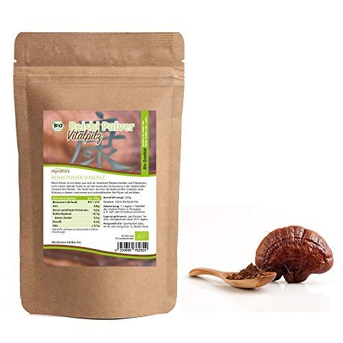 Mynatura Bio Reishi Pulver Beutel I Vitalpilz I Fitnessfood I Glutenfrei I Pilz I Tee I 100% Vegan I Reishipilz (1 x 200g)