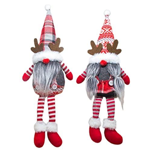 Yeah-hhi Decoraciones De Navidad Gnomes 2 Paquetes Hecho A Mano Gnomes Suecia Elf Peluche Adornos De Mesa para Navidad Decoración De Fiesta