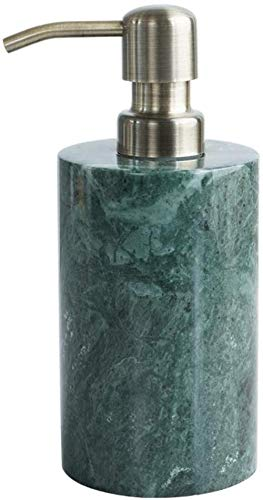 Conjunto de accesorios de baño, dispensador de jabón de mármol natural Dispensador de loción verde con bomba de cobre Accesorios de baño de lujo Conjunto de baño para baño 3.3oz Bomba de jabón Kit de