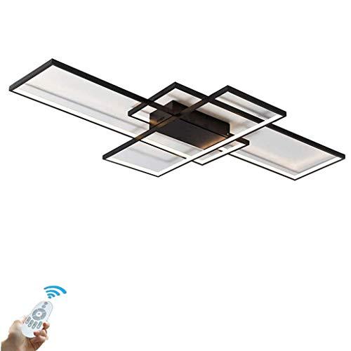 LED Lámpara De Techo Moderno Rectángulo Luz De Techo 3000K-6500K Color/Brillo Ajustable Con El Mando A Distancia Dormitorio Cocina Sala De Estar Comedor Oficina Plafón De Techo,140 * 80 * 9cm/108W
