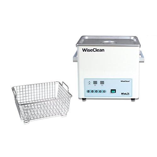 Witeg WUC-D06H - Bagno ad ultrasuoni da 6 l, fino a 80 °C, 40 kHz, controllo digitale, con cestello e coperchio piatto, per la pulizia di strumenti da laboratorio, senza cestino