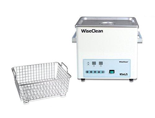 Witeg WUC-D06H Ultrasoon bad 6L tot 80°C 40kHz, digitale bediening, incl. draadmand en platte deksel, voor het reinigen van laboratoriuminstrumenten, zonder mand