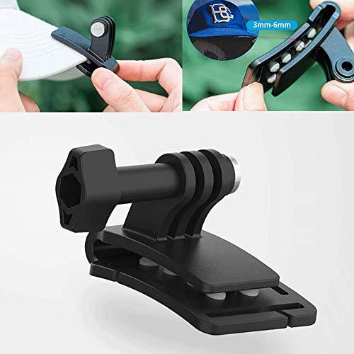 TELESIN Multi Funzionale Lega Alluminio Rapido Clip Cappello Zaino Clip per GoPro Hero 2018 7 6 5 4 3, Session, Xiaomi YI 4K LITE MIJIA Action Camera Accessori