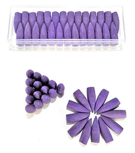 Lavender Scented Backflow Large Incense Cones ☆ 50 Pieces in Protective Hard Case ☆ Backflow Incense Cones ☆ DinnX Incense by Double D's Discounts
