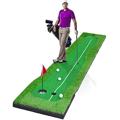 Golf Putting Green System Large Professional Golf Practice Training Putting Mat for Indoor/Outdoor Challenging Putter Aid Equipment