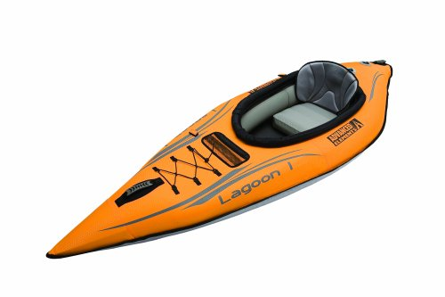 ADVANCED ELEMENTS Lagoon1 Kayak Gonflable Rouge/Gris
