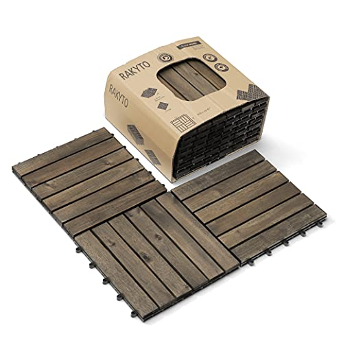 Wood Interlocking Flooring Tiles 12