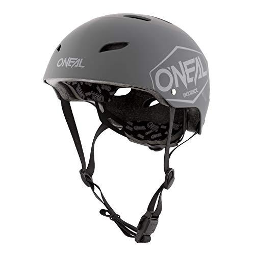O'NEAL | Mountainbike-Helm | Kinder | Enduro All-Mountain | ABS Schale, Fidlock Magnetverschluss, große Ventilationsöffnungen | Dirt Lid Helmet Youth Plain | Grau | Größe L