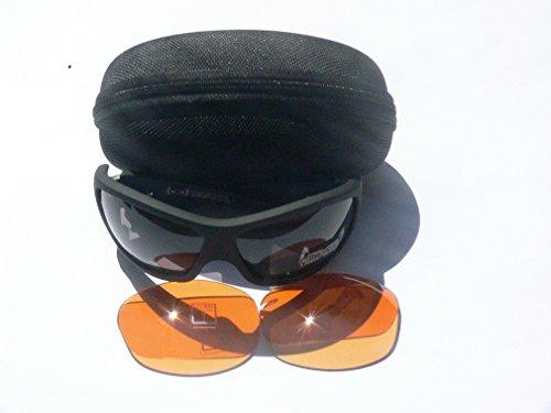 Gloryfy G3 Black matt Set Unbreakable Sonnenbrille Plus FOGLESS orange f1 Wechselgläser