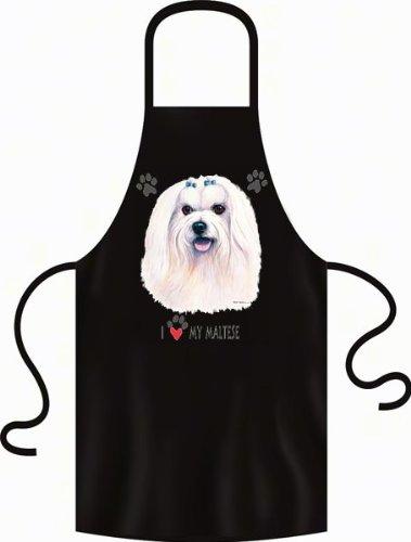 geil Bedruckte Grillschürze Schürze für Hundeliebhaber - Malteser - Uni-Größe