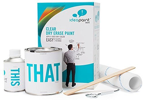 IDEAPAINT Create Clear Kit Dry Erase Paint; 100 Square Feet Coverage