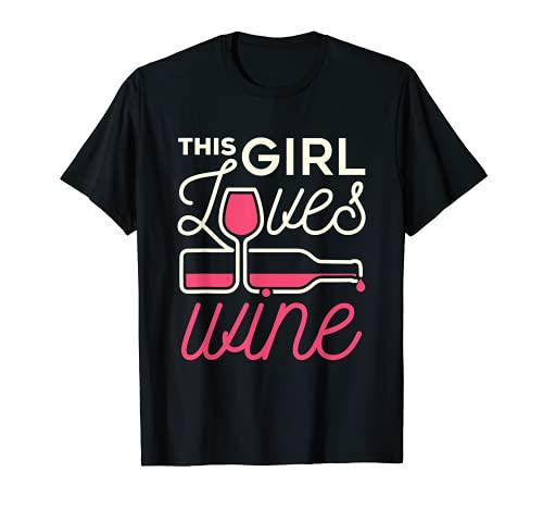 Esta chica ama el amante del vino bebedor beber degustación mujeres Camiseta