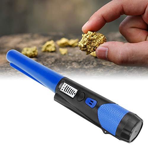 Pwshymi Localizador de metales de alta sensibilidad con linterna LED Diseño humanizado Pinpointer Detector de metales de mano para detectar metal (azul)