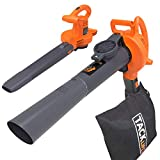 TACKLIFE Leaf Vacuum, 12 Amp 3-in-1 High Performance, Variable Speed Up to 240 MPH Blower GBV01A, Gray/Orange