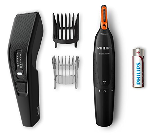 Philips Cortapelos HC3510/85 HAIRCLIPPER Series 3000 HC3510/85-Afeitadora (Negro, Rectángulo, 0,5 mm, 2,3 cm, 4,1 cm, Acero inoxidable), 1