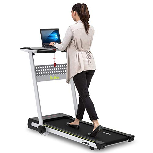CIIHI C Desk Treadmill Jogging Machine Walking Treadmill with Support Bluetooth Speakers with LCD Touch Display Fitness Walking Machine for Office and Home Use