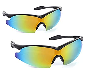 Bell+Howell TACGLASSES One-Size-Fits-All Polarized Sports Sunglasses for Men/Women Unisex Military Eyewear As Seen On TV