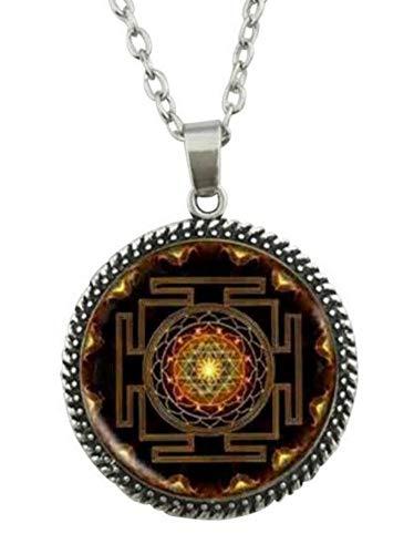 Collar Colgante Símbolo Sri Yantra Budista, Chakra, meditación Yoga.