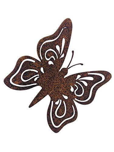 Gerry tuindecoratie vlinder met metaal roest decoratie