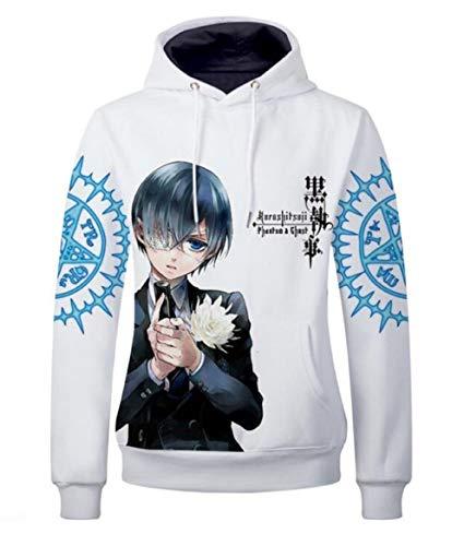 GO2COSY Anime Black Butler Hoodie Kuroshitsuji Pullovers Jacket Sweatshirt Fleeces Costume