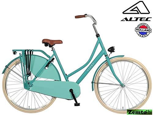 Hoptec Damen Hollandrad Altec London 28 Zoll Omafiets 55 cm Ocean Green