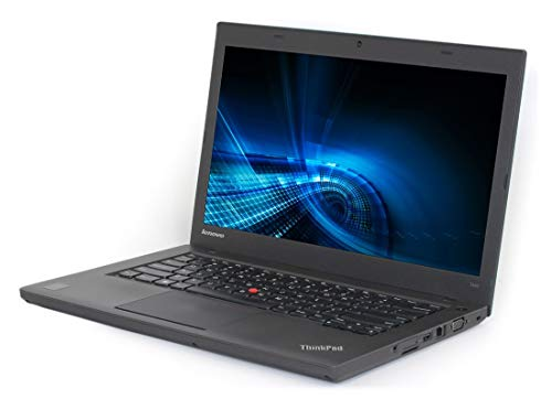 Laptop Lenovo ThinkPad T440 i5-4300U, 4 Gb RAM 500GB HDD, Cam, 14' Win 10 Pro (Renewed)