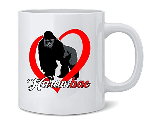 Poster Foundry Harambe is My HaramBAE Meme RIP Gorilla Ceramic Coffee Mug Tea Cup Fun Novelty Gift 12 oz
