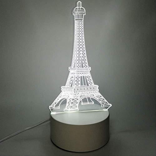 3D-nachtlampje Slaapkamer Nachtkastje Led-kleine tafellamp Slaapzaaldecoratie Creatieve vakantiegift IJzeren toren