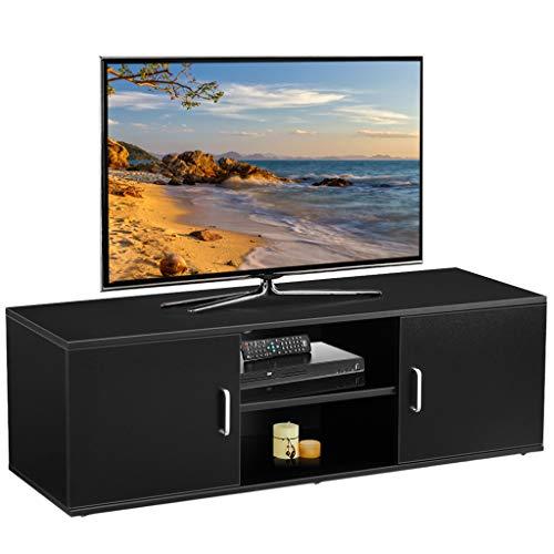 LANGRIA TV Lowboard Fernsehschrank Fernsehtisch Tisch Möbel (120x40x40cm) Schwarz