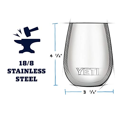 YETI Rambler 10 oz Wine Tumbler, Vacuum Insulated, Stainless Steel, 2 Pack, Peak Purple