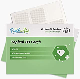 Vitamin D3 Topical Patch by PatchAid (1-Month Supply)