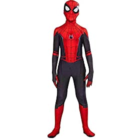 Eudora Kids Superhero Spandex Costume Cosplay 3d Zentai Full Bodysuit Halloween Costumes Red