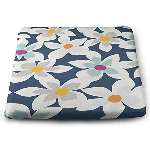NMTUHAO Cojín cuadrado floral blanco,Cojines, Espuma para cojines,Cojín de espuma de memoria Cushion-Square,Cojín de poliéster