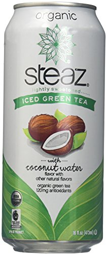 Steaz Iced Green Tea - with Coconut Water - 16 OZ