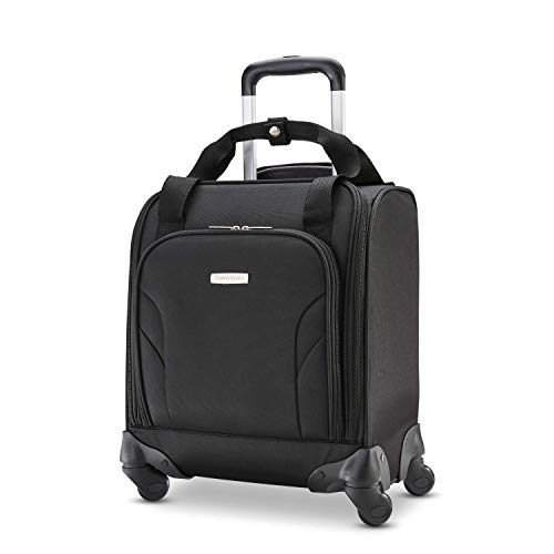 Samsonite Underseat Spinner with USB Port Carry-On Luggage, Jet Black, One Size